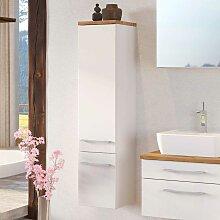 Hängender Badschrank in Weiß und Wildeiche Dekor