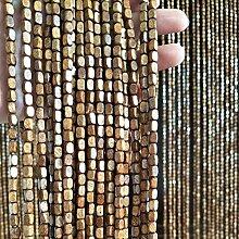 Hängender Holzperlen-Türvorhang Kaffee Perle