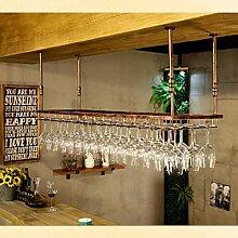 Hängendes Weinglasregal, Metallbecher
