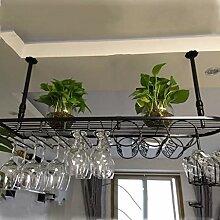 Hängendes Weinregal Europäische Bar Weinglas