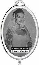 Hängerahmen Bilderrahmen Fotorahmen oval 2,5x4 cm