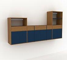 Hängeschrank Blau - Wandschrank: Schubladen in