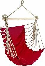 Hängesitz Fashion rot Baumwolle 85 x 160 cm Tragfähigkeit 110kg