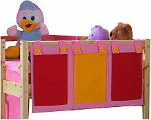 Hängetasche Organizer Stofftasche Aufbewahrung für Kinderbett Hochbett Bett pink