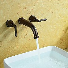 Haer Continental Antike In der Wand über dem Desktop Waschbecken Wasserhahn, Braun