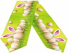 Häschen-Ohr und Eier Ostern-Gruß-Tischläufer,