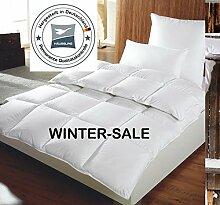 Häussling warme Winter Daunendecke 155x220 cm, 1380g 90% Daunen, 4x6 Kassetten, Wärmeklasse 4, Made in Germany