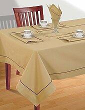 HAFERFLOCKEN BEIGE Tischdecke Frühling Dekorationen für Zuhause Size-Größe - 152 X 213