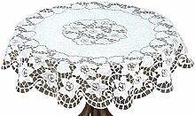 HAFT® Tischdecke, Polyester, Weiß