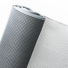HaGa® Kunststoffzaun Gartenzaun in 1m Höhe Masche 10mm in silber (Meterware)