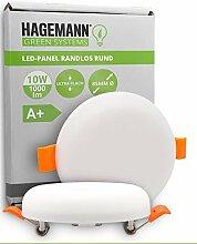 HAGEMANN® 1 x LED Deckenleuchte 10W flach rund