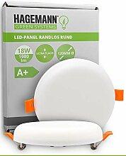 HAGEMANN® 1 x LED Deckenleuchte 18W flach rund