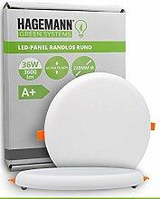 HAGEMANN® 1 x LED Deckenleuchte 36W flach rund