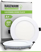 HAGEMANN® 1 x LED Panel rund 6 Watt 540lm – Ø