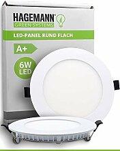 HAGEMANN® 1 x LED Panel rund 6 Watt 570lm – Ø