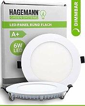 HAGEMANN® 1 x LED Panel rund dimmbar 6 Watt 540lm