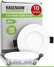 HAGEMANN® 10 x LED Einbauleuchte 3 Watt 270lm –