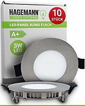 HAGEMANN® 10 x LED Einbauleuchte 3 Watt 300lm –