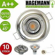 HAGEMANN® 10er Set LED Einbaustrahler schwenkbar