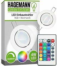 HAGEMANN® LED Einbaustrahler RGB dimmbar mit