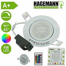 HAGEMANN® LED RGB Einbaustrahler dimmbar inkl.