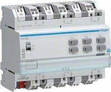 Hager Modul DIN-Schiene 6-fach Universal 24–230V AC/DC