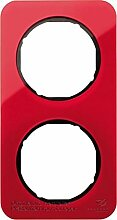 Hager Rahmen 2Elemente R1Acryl Rot/Schwarz