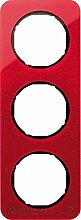 Hager Rahmen 3Elemente R1Acryl Rot/Schwarz