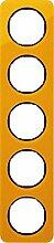 Hager Rahmen 5Elemente R1Acryl Orange/Schwarz