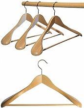 Hagspiel Kleiderbügel aus Holz, 10 St.