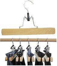 Hagspiel Kleiderbügel aus Holz, Hosenbügel, 8 St. Hosenspanner, mit Filzeinlage, 25 cm lang, 28 mm hoch, Originalprodukt nur bei Hagspielshop