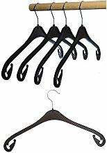 Hagspiel Kleiderbügel aus Kunststoff, schwarz,