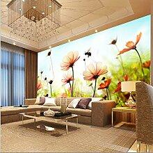 Hagyh individuelle Gemälde Wohnzimmer wallpaper Ideen Tapete grün Wallpaper 3D Wall Kunst Gemälde von Bienen Blumen pflücken
