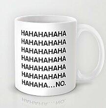 Haha Kaffee Tasse Funny 11Oz Keramik Kaffee Tasse Einzigartiges Weihnachts Geschenkidee Great Novelty Geschenk Weihnachten Geschenke für Männer, Frauen, Oma, Opa, Freunde, Boss und Lehrer