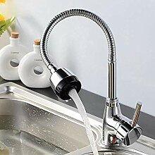 Hahn-Waschbecken-Mischer-Einlochmontage-heißer