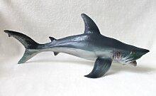 Hai 55cm Haifisch Großer Weißer Hai White Shark Kunststoff Spielfigur Fisch Deko