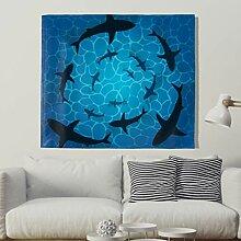 Hai Wandteppich Blau Ozean Meer Wandbehang