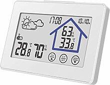 haia7k4k Funk-Thermometer mit Luftfeuchtigkeit,