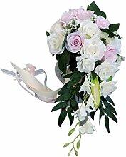 haia7k4k Romantische Hochzeit Brautstrauß