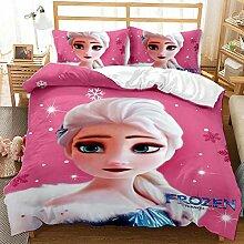HAIFEI 3D Disney Frozen Bettbezug, Elsa Anna