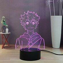Haikyuu 3D-Anime-Nachtlicht, Schreibtischlampe