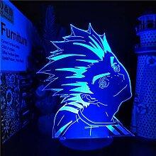 Haikyuu Bokuto 3D LED Anime Nachtbeleuchtung