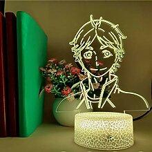 Haikyuu KoSHI SUGAWARA LED Illusion Nachtlichter