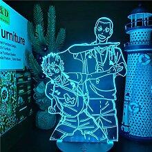 HAIKYUU NISHINOYA AND TANAKA 3D-Nachtlicht
