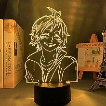 Haikyuu Tadashi Yamaguchi 3D Illusion Lampe LED