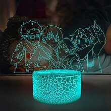 Haikyuu Tobio Kageyama 3D Anime Lampe LED Illusion