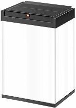 Hailo 0840-131 Big-Box, Swing L, Mülleimer, 35 Liter, selbstschließender Schwing-Deckel, Müllbeutel-Klemmrahmen, made in Germany