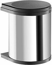 Hailo 3555-101 Compact-Box M, Einbau-Mülleimer aus Edelstahl/Kunststoff, 15 Liter, Deckel-Lift-System, einfache Montage, made in Germany