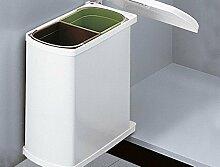 Hailo Duo 45 weiss 2x 8 Liter Mülleimer Küchen Abfalleimer Bad Abfallsammler