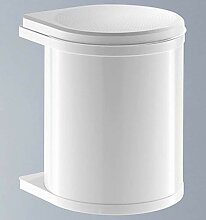Hailo Compact-Box M Mülleimer Abfallsammler Abfalleimer Tür Stahlblech Weiß 15 L